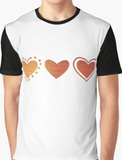 3 hearts Graphic T-Shirt