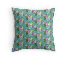 Turquoise Corals Throw Pillow