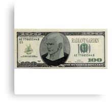 Kingdom Hearts 100$ Bill Metal Print