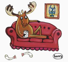Couch Surfing Moose Kids Tee