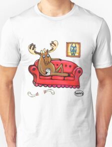 Couch Surfing Moose Unisex T-Shirt