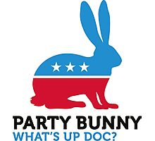 Political Party Animals: Bunny Photographic Print