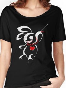 Contrasp - Hiding in the dark voodoo bunny Women's Relaxed Fit T-Shirt