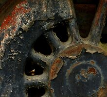 Grunge ~ Engine Wheel by Elaine Bawden