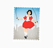 Skipping Girl Vinegar Postage Stamp Unisex T-Shirt