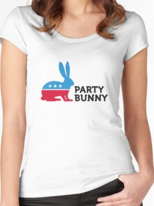 Political Party Animals: Bunny Women's Fitted Scoop T-Shirt