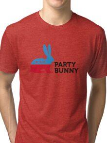 Political Party Animals: Bunny Tri-blend T-Shirt