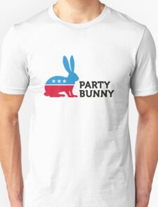 Political Party Animals: Bunny Unisex T-Shirt