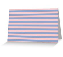 Rose Quartz and Serenity Stripes – Pantone Colors of the Year 2016 Greeting Card