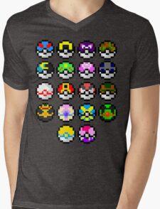 Pokeball Art Mens V-Neck T-Shirt