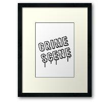 Grime Scene Framed Print