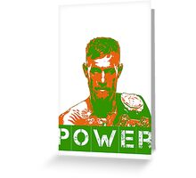 Power - Conor Mcgregor Greeting Card