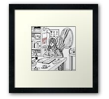 Office Space (grey) Framed Print