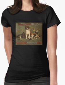 'Kennel Club' Vintage Poster Womens Fitted T-Shirt