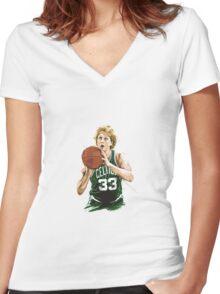 larry legend bird Women's Fitted V-Neck T-Shirt