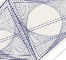 diamond graph Sticker