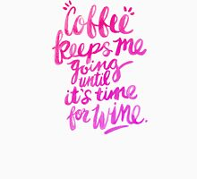 Coffee & Wine – Pink Ombré Unisex T-Shirt