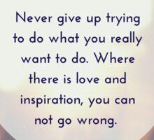 """Never Give Up"" Tori Kelly Lyrics Design Sticker"