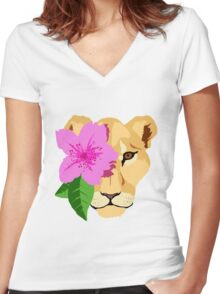 Lioness Women's Fitted V-Neck T-Shirt