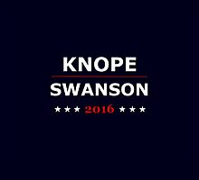 Knope And Swanson 2016 by GingyForTheWin