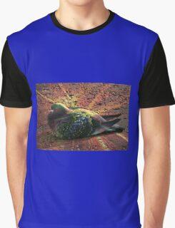 Rainbow Pigeon Graphic T-Shirt