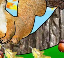 Squirrel with Acorn (2749  Views) Sticker