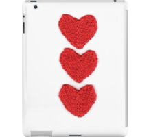 Red Love Hearts Knitted For Your Valentine iPad Case/Skin