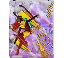 jetgirl rocketship squadron iPad Case/Skin