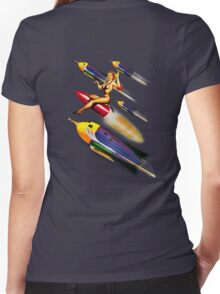 rock rock rock it to the moon! Women's Fitted V-Neck T-Shirt