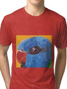 Rainbow Lorikeet Portrait Tri-blend T-Shirt