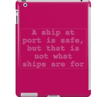 Computer Science Grace Hopper Quote (white) iPad Case/Skin