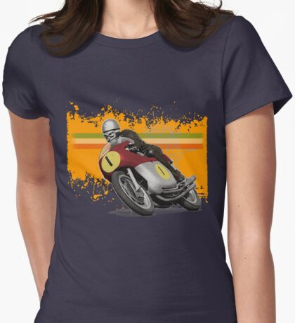cafe racer mv agusta one Womens Fitted T-Shirt