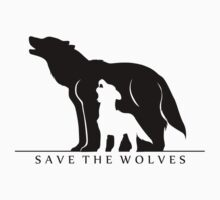 Save the Wolves (White Background) One Piece - Long Sleeve