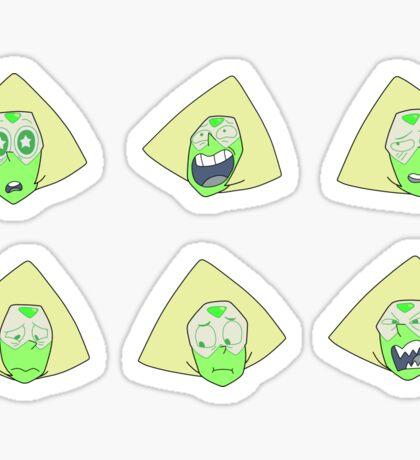 Peridot Faces Sticker