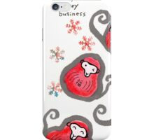 Monkey-Faced Daruma Dolls (Year of the Monkey) iPhone Case/Skin