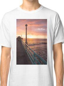 Sunset at Manhattan Beach Classic T-Shirt