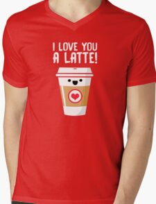 Latte Love Mens V-Neck T-Shirt