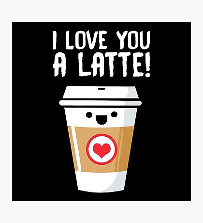 Latte Love Photographic Print