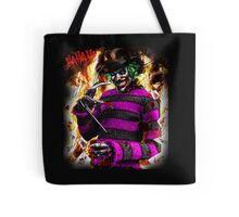 the joker- freddy krueger mash up  Tote Bag