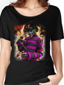the joker- freddy krueger mash up  Women's Relaxed Fit T-Shirt