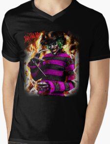 the joker- freddy krueger mash up  Mens V-Neck T-Shirt
