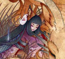 Slumber - Kitsune Fox Dragon Sticker
