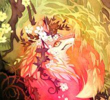 Dawnsing Wood Fox in Watercolor Sticker