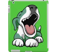 Laughing Bull Terrier White & Green iPad Case/Skin
