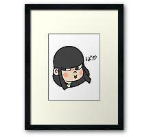 BAKA! Girl Framed Print