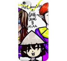 Chronicles of Ching Chong and Miaa fanime logo iPhone Case/Skin