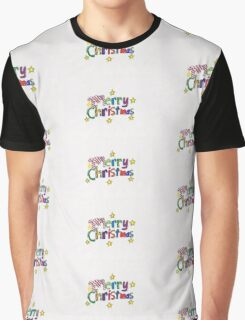 Merry Christmas Colourful Logo Graphic T-Shirt
