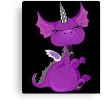The Asexuality Blog - Unidragon Mascot Logo Canvas Print