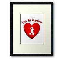 I Love My Valentine Framed Print