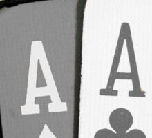 The Asexuality Blog - Four Aces Logo Sticker